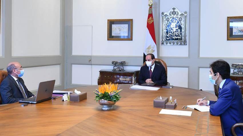 الرئيس السيسي يجتمع بوزير العدل