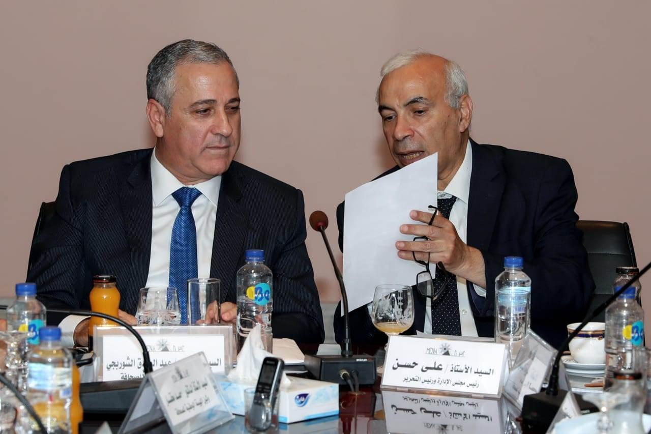 المهندس عبدالصادق الشوربجي وعلي حسن