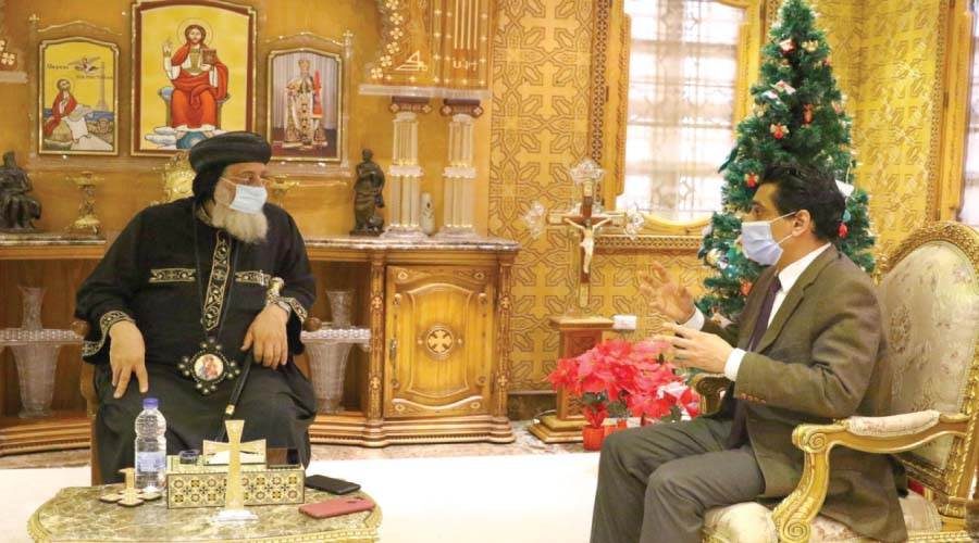 رئيس التحرير يحاور البابا تواضروس الثانى