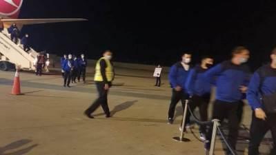 وصول منتخب روسيا لكرة اليد مطار برج العرب