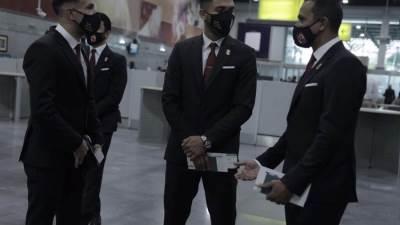 بعثة الاهلي تخضع لمسحة طبية فور وصولها قطر