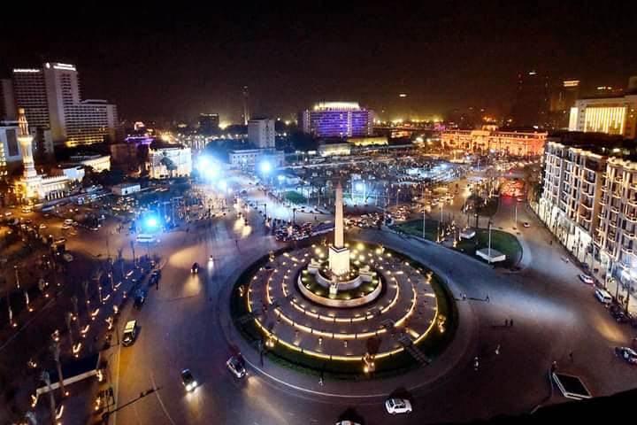 ميدان التحرير ليلاً