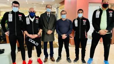 سفير مصر بالمجر يزور منتخب الخماسي الحديث