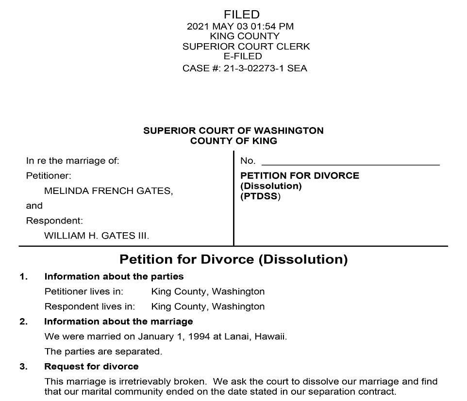وثائق الطلاق