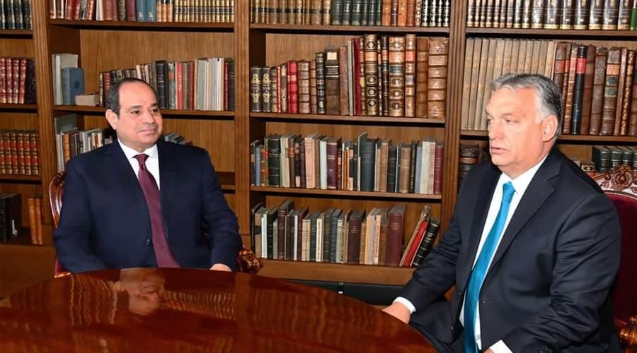 الرئيس السيسي ورئيس وزراء المجر