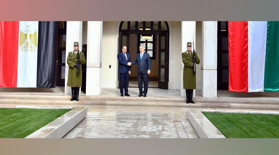 رئيس وزراء المجر في استقبال الرئيس السيسي